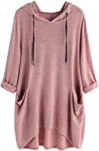 KFSO Women's Pullover Hooded Sweatshirt Long Sleeve T Shirt Thin Tunic Top with Pockets