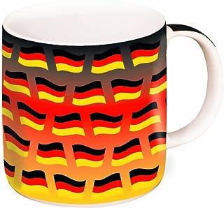 Brauns Duitsland porseleinen beker 0,35l, zwart/rood/goud, 95015