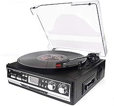 Plattenspieler, dl Kassette 4-in-1 mit Fernbedienung, Bluetooth, UKW-Radio,..