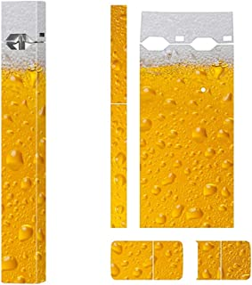 Skin Decal Sticker for JUUL Anti Scratch Removable Protector-Beer