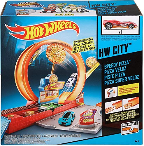 Hot Wheels Mattel FTL88 Speedy Pizza Car Playset