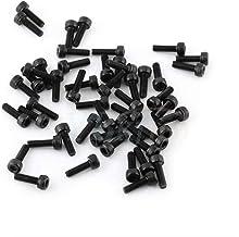 M3 zeskantschroeven, 10 mm, 12 mm, 14 mm, 16 mm, zeskantschroeven, koolstofstaal, graad 12,9, zwart, 100 stuks