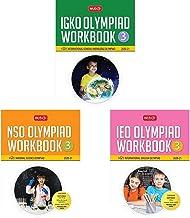 Class 3 - International General Knowledge Olympiad (IGKO) Work  (2020-21) + National Science Olympiad Work  (2020-21) + International English Olympiad Work  (2020-21) (Set of 3 Books)(New Edition)