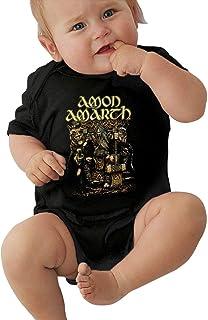 Irener, Body de bebé de Manga Corta Unisex Amon Amarth Male Unisex Soft Baby Summer Dress Short Sleeve
