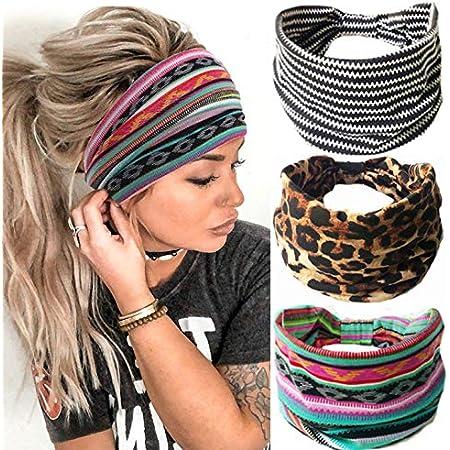 Women Wide Sports Yoga Headband Stretch Hairband Elastic Hair Band Boho Turban S