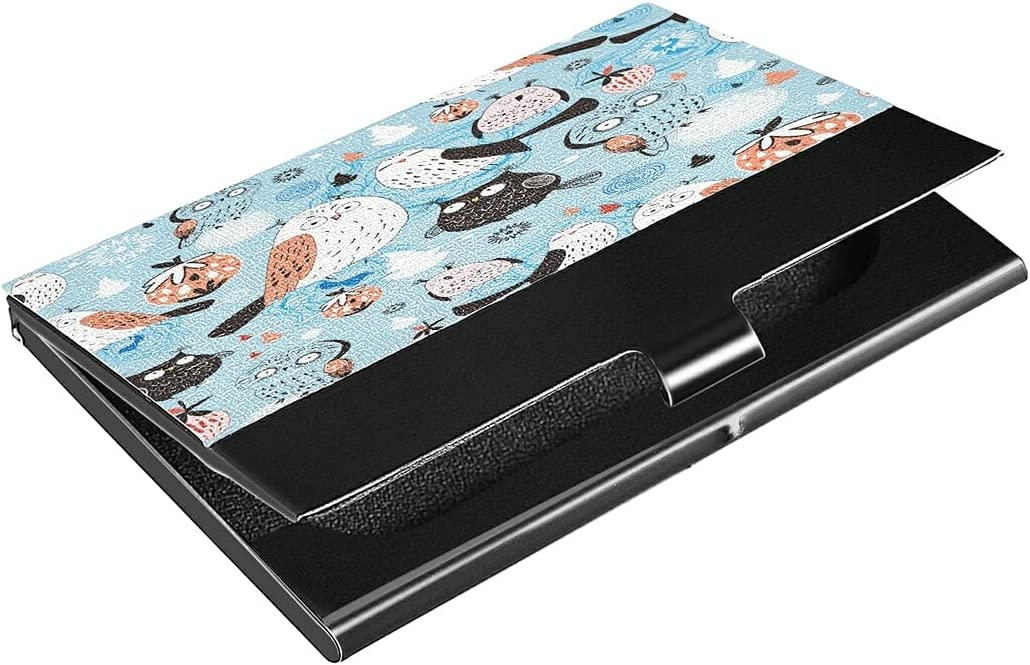 Max 78% OFF Hunihuni Business Card Case Animal Pattern Ho Sale special price Owls Businees