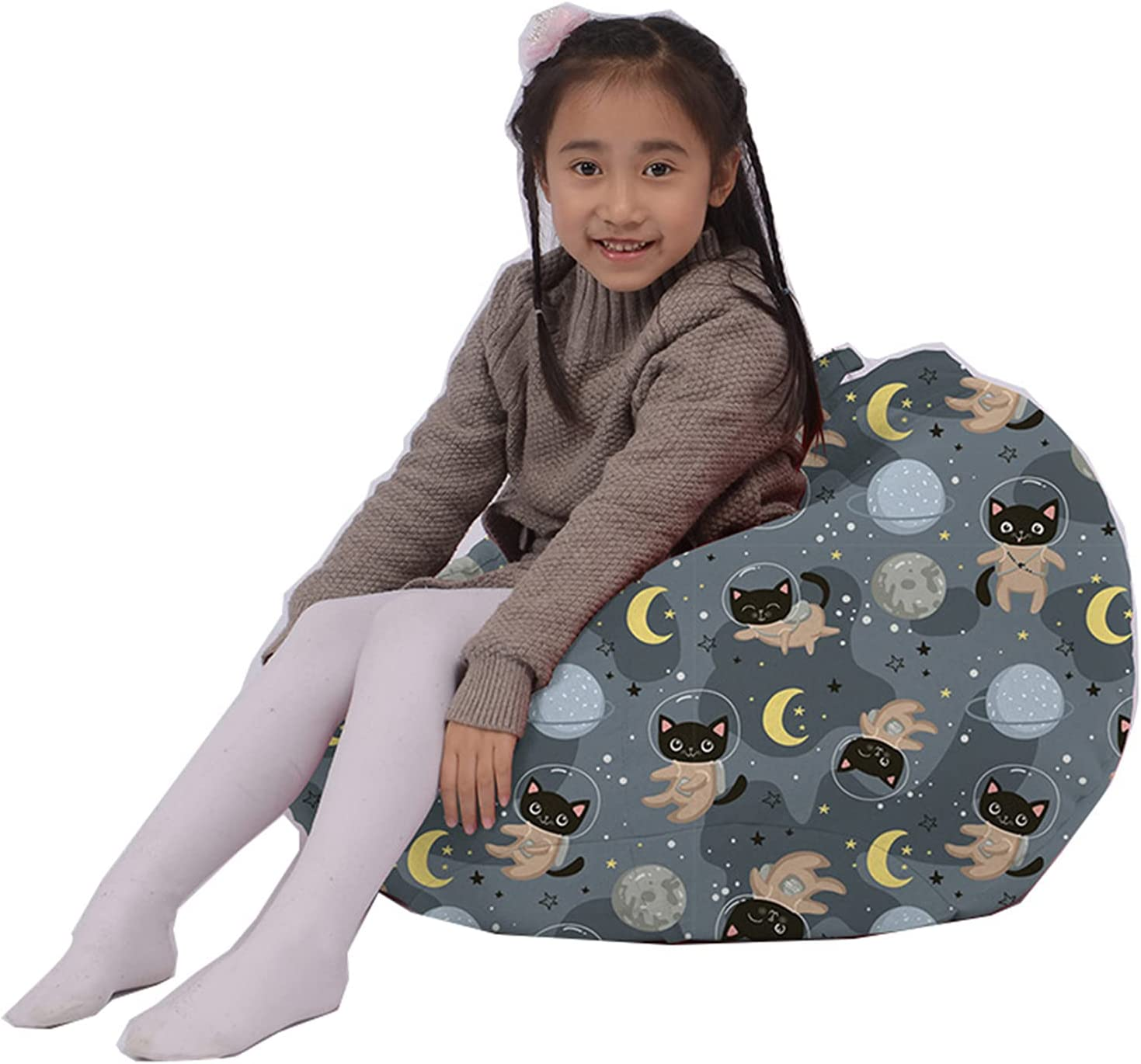 LDIW Bean Bag Chair Cover for Decoration Max 80% OFF Gorgeous Kids Cute Soft Bedroom