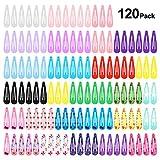 120pcs Pinza de Pelo, PAMIYO Metal Multicolor Pelo Horquillas Diseño de Impreso Coloridos Accesorios Cabello para Niñas Infantiles