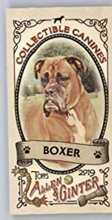 2019 Topps Allen and Ginter Collectible Canines Mini #CC-2 Boxer MLB Baseball Trading Card
