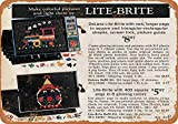 Lite Brite Toy Tin Sign Wall Vintage Iron Painting Decoration Metal Poster Warning Group Slogan Art Gift for Home Garden Living Room etc
