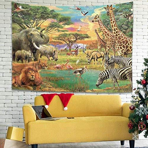 Indien Retro Wild World Artwork Wandteppich Traditionelle Tapisserie Wandteppich Bettdecke 150cmx200cm