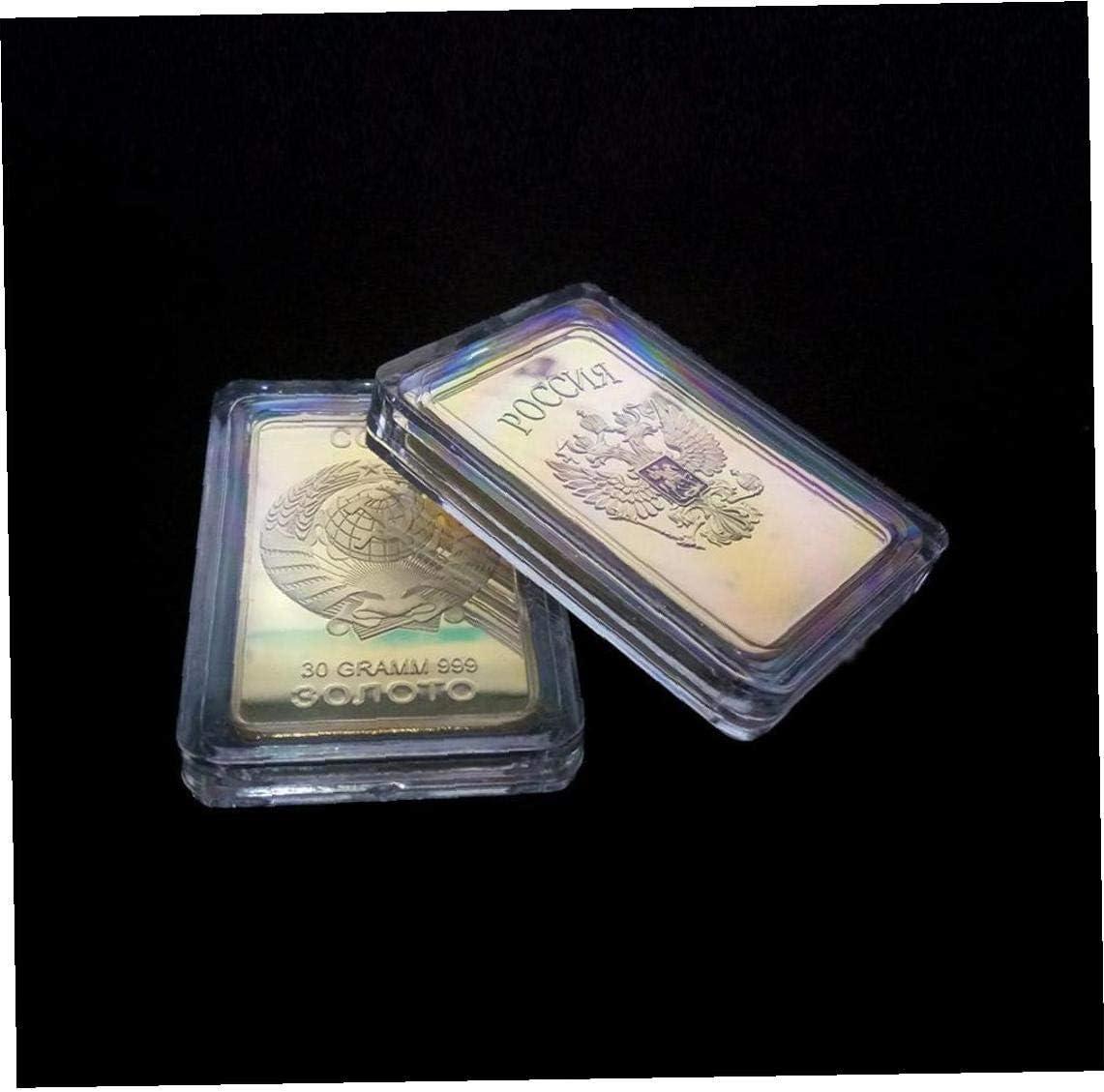 PiniceCore Medaglia Russia Moneta Home Decor Souvenir Soviet Bullion CCCP 24k Bar Monete Commemorative