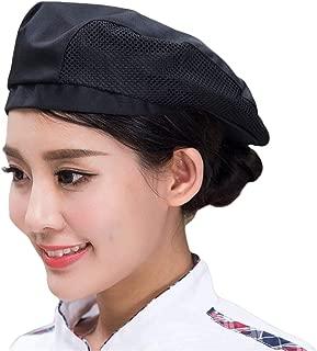 Adult Chef Hat Flat Beret Mesh Kitchen Catering Duckbill Cap Pastry Baker Cooking Waiter Uniform Cap for Restaurant Hotel