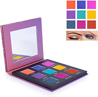Highly Pigmented Eyeshadow Palette, YMH BEAUTE 9 Bright Colors Eye Shadow Palettes Matte Shimmer Eyeshadow Makeup Palette Colorful Smokey Eye Long Lasting Cosmetics, Cruelty-free(Mermaids)