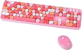 مجموعة لوحة مفاتيح وفأرة لاسلكية من Arcwares، 2.4 جيجا USB مريحة، لوحة مفاتيح كاتبة لطيفة وجميلة مع أجهزة الكمبيوتر واللاب...