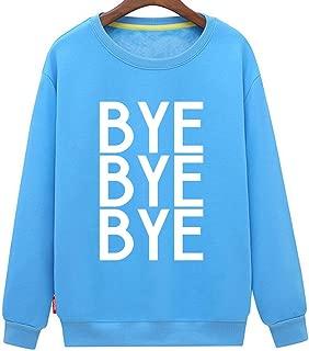 CINFUN Women's Bye Bye Bye Fashion Letter Print Casual Sweatshirt
