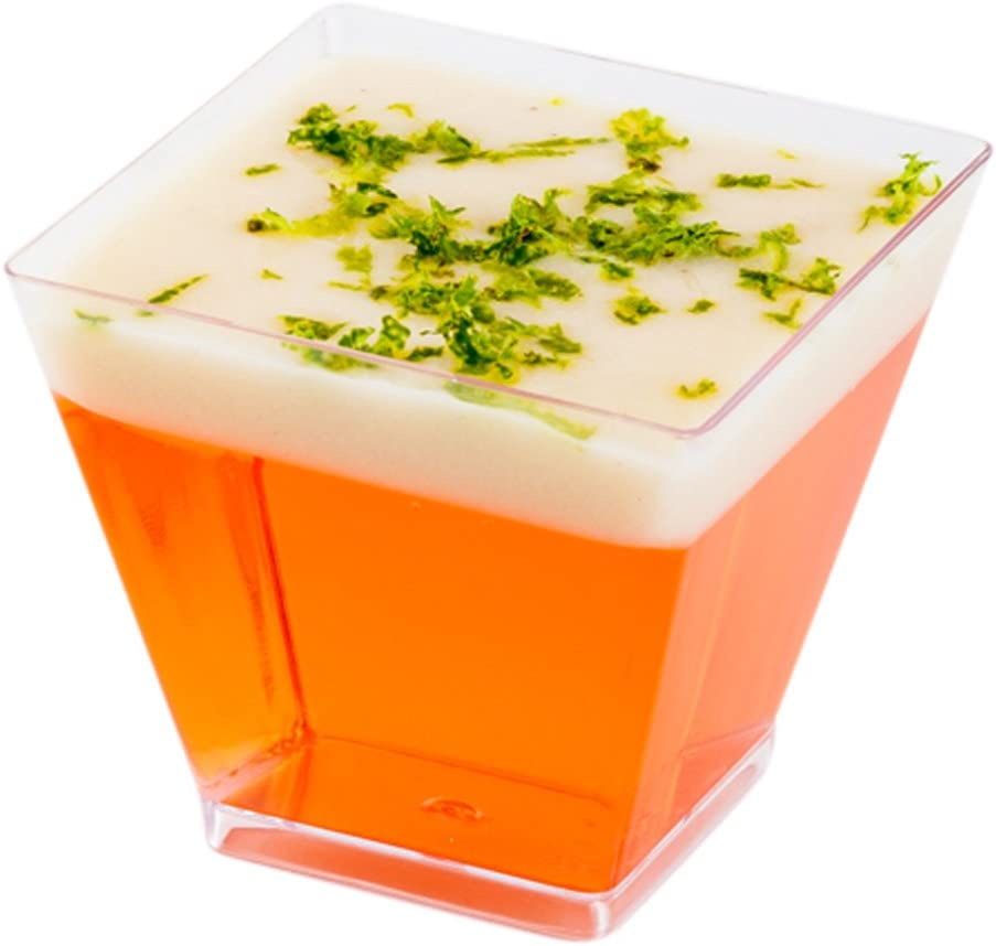 Spasm price 2 Inventory cleanup selling sale Ounce Appetizer Cups 300 Mini - Disposabl Square Dessert