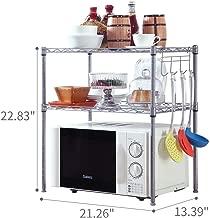 SINGAYE 2 Tier Adjustable Oven Microwave Rack Baker's Rack Kitchen Storage Rack Kitchen Shelving Unit with 2 Shelf Liners