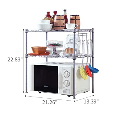 SINGAYE 2 Tier Adjustable Oven Microwave Rack B...