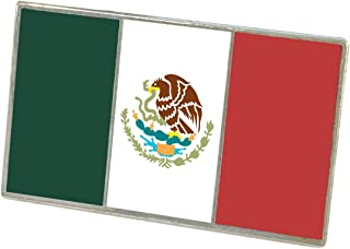 Official Mexican Flag Enamel Lapel Pin (Bandera De Mexico)