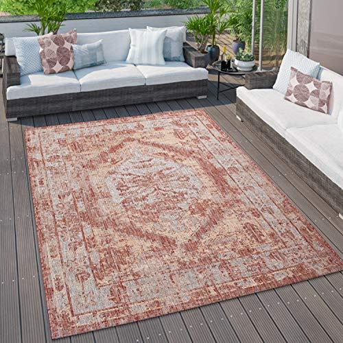 Grandi tappeti per Esterni, per Cucina, Balcone e terrazza, Vari Motivi e Colori, Dimensione:120x160 cm, Colore:Rosso