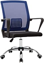 Stable Office Chair Chair Student Chair Mesh Chair Dormitory Conference Chair Home Computer Chair Durable (Color : Blue)