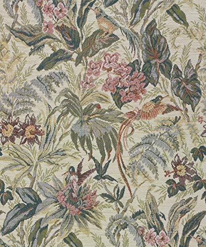 Möbelstoff Gobelin DONATELLO 505 Blumenmuster Farbe multicolor als robuster Bezugsstoff, Polsterstoff bunt geblümt zum Nähen und Beziehen, Polyester, Polyacryl