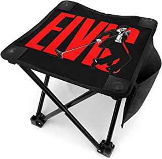 Small Folding Camping Stool, Geek Ghostbusters Lightweight Chairs Portable Seat for Adults Fishing Hiking Gardening and Beach with Carry Bag