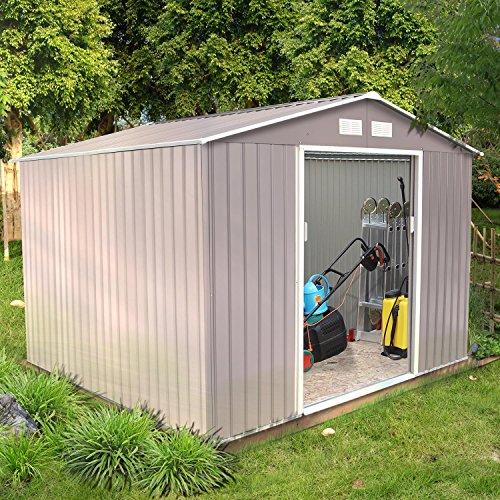 Concept-Usine Sancy 7.06 m² : abri de jardin en metal anti-corrosion gris