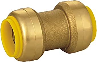 AB Brass Straight Push-to-Connect Coupling Fitting 1/2 in. x 3/4 in, Push-Fit Coupler (25-Pack) for Plumbing Fitting, Lead Free