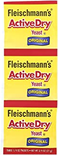 Fleischmann's Active Dry Yeast, The original active dry yeast, 0.75 oz (Pack of 4)