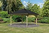 Unbekannt Karibu 4-Eck Pavillon Classic Holm 1 kdi Sparset inkl. Schindeln