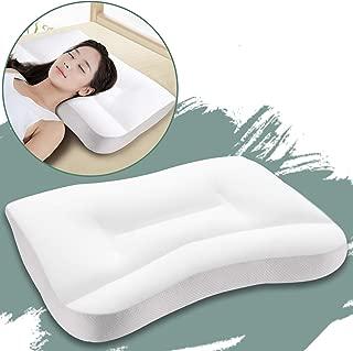 枕 安眠 快眠枕 肩こり対策 良い通気性 健康枕 ストレートネック 仰向き横向き対応 洗える 頭痛改善 頚椎サポート いびき防止 丸洗い pillow 40*62 枕カバー付き