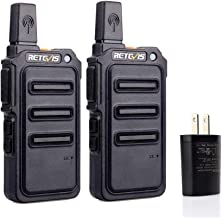 Retevis RT19 Walkie Talkies for Kids Adults UHF 22 Ch CTCSS DCS 1300mAh Li-on Battery Rechargeable 2 Way Radio Long Range(2 Pack)