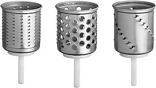 Kitchenaid Emvsc Accessoires pour Robot Tranchoir Set de 3 Cylindres pour Robot Artisan
