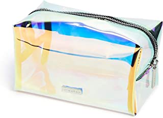 Skinnydip Women's Dazzle Makeup Bag, Holographic, Clear, One Size