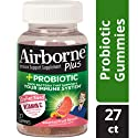 Airborne Vitamin C 1000mg and Probiotic Gummy - Assorted Fruit Flavored Gummies, 27 count - Immune Support Minerals & Herbs,  Antioxidants (Vitamin A, C & E), Gluten-Free