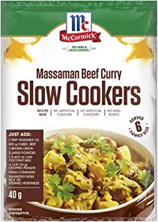 McCormick Slow Cookers Massaman Beef Curry Recipe Base 40 g, 40 g