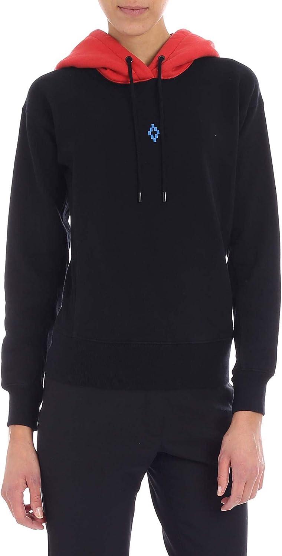 Marcelo Burlon Women's CWBB022E185061191088 Black Cotton Sweatshirt