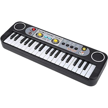 EBTOOLS Piano electrónico, 37 teclas Teclado digital eléctrico Piano Instrumentos musicales Piano Juguete para niños con micrófono