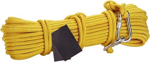 LDFN Corde D'escalade Corde De Secours En Acier De Grande Hauteur Corde De Sécurité Corde De Sauvetage Famille Veille,jaune-15m8mm