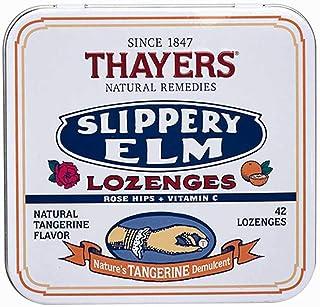 Thayers Slippery Elm Lozenges, Tangerine, 42 Count
