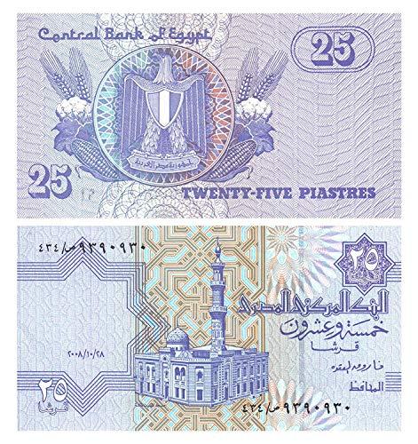Egypte vijfentwintig piasters bankbiljet uitgegeven door Central Bank of Egypte voor bankbiljettenverzamelaars / 2008 (71)