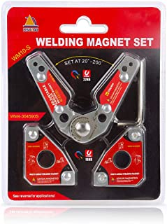 LISHUAI Neodymium Welding Magnet Set Multi-angle Welding Magnet + 20-200 Degree Adjustable Welding Holder