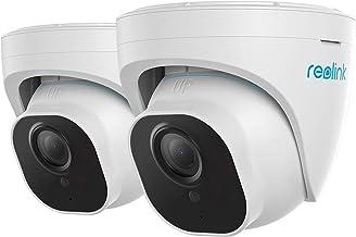 Reolink 2 Pack 4K Ultra HD PoE Beveiligingscamera PoE Beveiligingscamera met persoon-/voertuigdetectie, Dome CCTV IP Bevei...