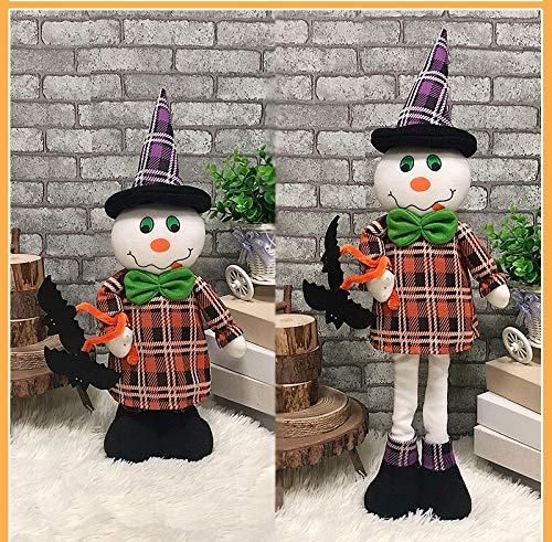 Halloween Toys Retractable Doll Ghost Party Prop Decoration(Black Cat) Outdoor Indoor for Kids Zoe's Shop (Color : Ghost)