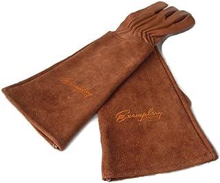 دستکش های بریدن برای مردان و زنان. دستکش چرم زینتی با پوست چرمی با دستکش چرمی بلند برای حفاظت از دستهای شما تا آرنج (متوسط، قهوه ای)