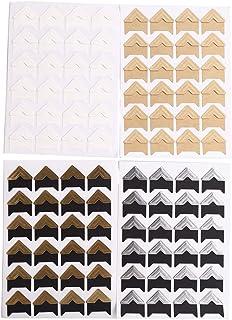 CCINEE 24 Sheets Photo Mounting Corners, Fine Self Adhesive Sticker for DIY Scrapbook Album - 4 Colors