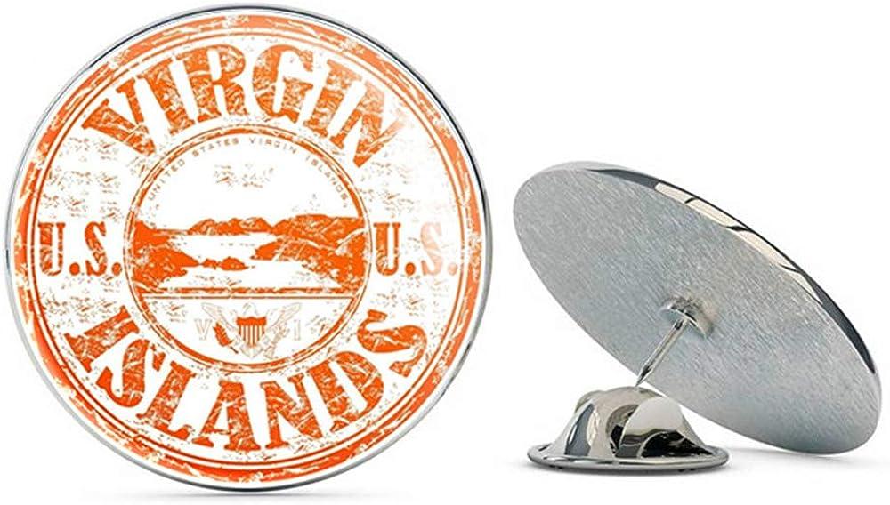 Virgin Islands USA Round Metal 0.75