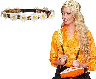 Floral Garland Headband Hippy 70s Flower Power Theme Headband Hair Band Daisy Flower Hair Jewellery Karnevalskostüme Accessories